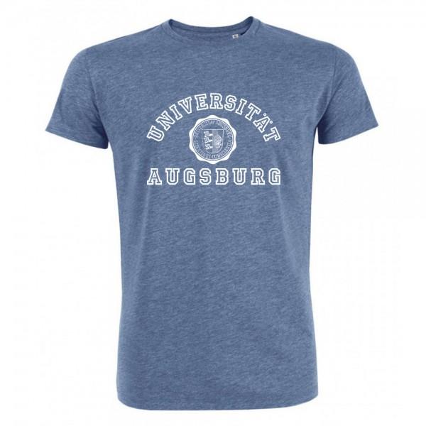 T-Shirt organic, taubenblau meliert